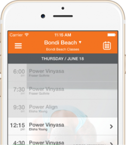 iphone app timetables power living australia yoga