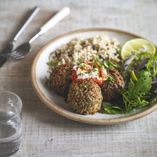 Herbed Lentil Balls Vegan Food