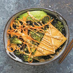 Spicy Sesame Tofu Buddha Bowl