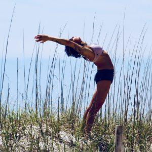 yoga stretches on plane