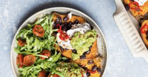 loaded mexican sweet potatoes